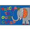 Flagship Carpets CE146-14W Welcome Mat Class Elephant 2' x 3' Educational Rug