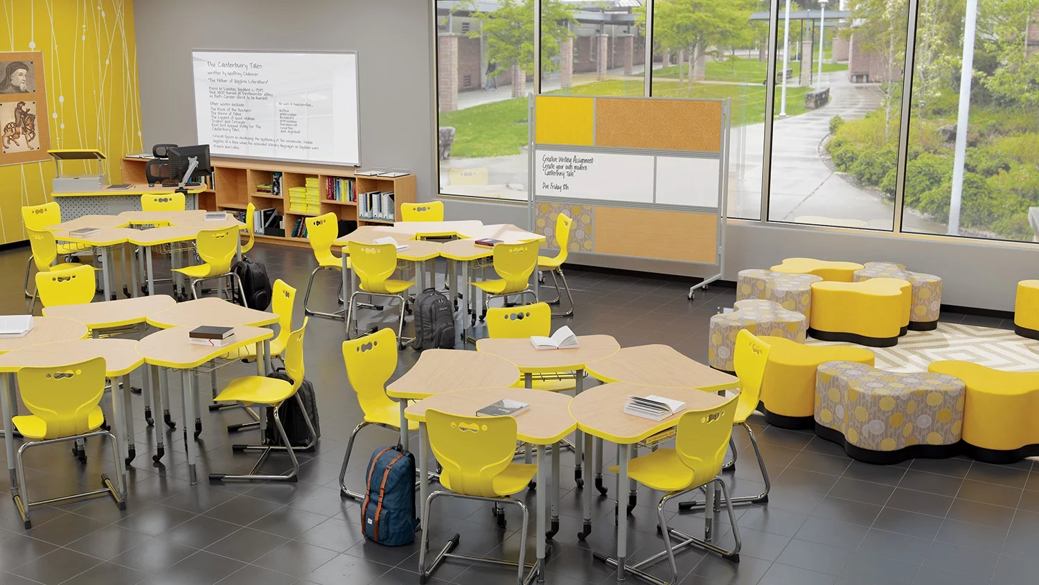 Flexible Collaborative Classroom with Soft Seating