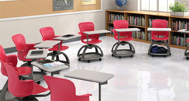 Classroom of Ethos Mobile Chair Desks