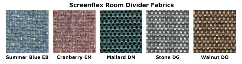 Screenflex Partition Fabric Colors