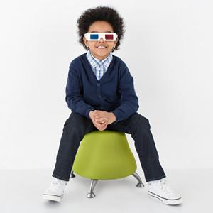 Child Sitting on Runtz Ball Chair