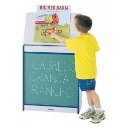 Jonti-Craft Rainbow Accents Big Book Easel - Chalkboard - Multiple Edge Colors