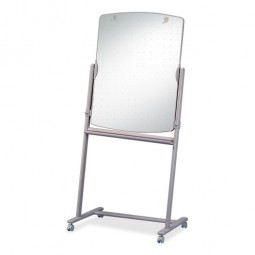"Quartet Reversible Mobile Easel Board, 30"" x 41"" to 72"", Neutral"