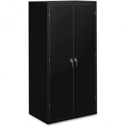 "HON 5-Shelf Locking Storage Cabinet, 36"" x 24¼"" x 71¾"", Black"