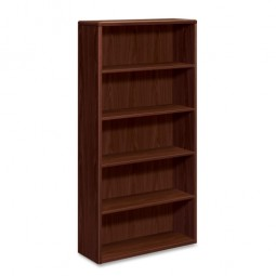 "HON 10700 Series 5 Shelf Bookcase, 36"" x 13⅛"" x 71"", Mahogany"