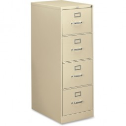 HON 310 Series 4-Drawer Vertical File, Legal, Putty