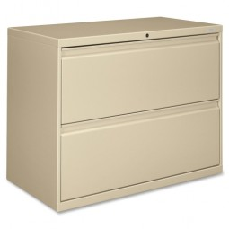 "HON Brigade 800 Series 2-Drawer Lateral File, with Lock, 36"", Putty"