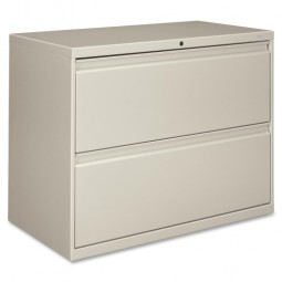 """HON Brigade 800 Series 2-Drawer Lateral File, with Lock, 36"""", Light Gray"""