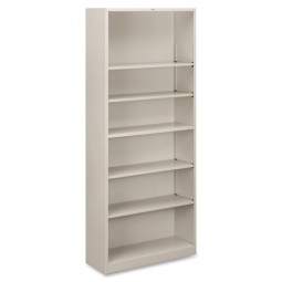 HON Brigade Metal Bookcase, Light Gray - Many Heights Available