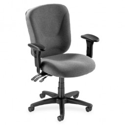 Lorell Accord Series Midback Task Chair, Gray