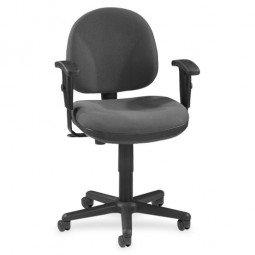 "Lorell Adjustable Task Chair, 24"" x 24"" x 33"" to 38"", Gray"
