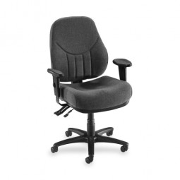 Lorell Baily MultiTask Chair, High-Back, Gray