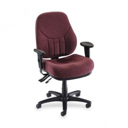 Lorell Baily MultiTask Chair, High-Back, Burgundy