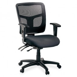 Lorell Ergomesh Managerial MidBack Chair, Black