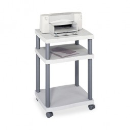 "Safco Economy Desk Side Printer Stand, 2 Shelves, 20"" x 17½"" x 29¼"", Gray"