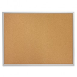 "Quartet Cork Boards, ¾"" Frame Face, Aluminum Frame - Multiple options"
