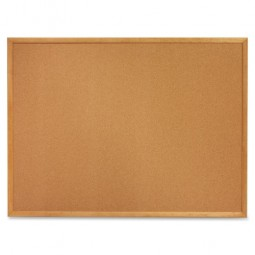 "Quartet Cork Board, 1"" Face Frame, 2' x 1½', Oak Frame"