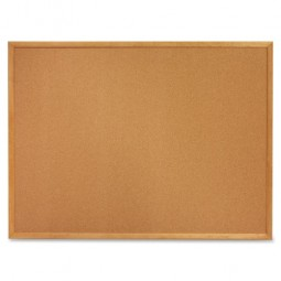 "Quartet Cork Board, 1"" Face Frame, 3' x 2', Oak Frame"