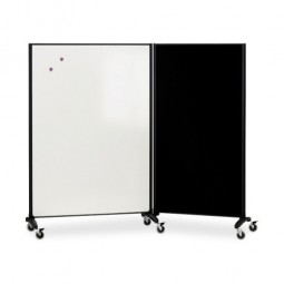Quartet Mutli Room Divider/Magnetic Board, 2 Sided, 3' x 6', Graphite Frame