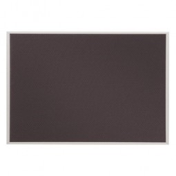 "Quartet Bulletin Board, Slim Profile, 23"" x 16"", Gray Fabric"
