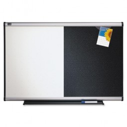 Quartet Combination Board, Mounting System with Dry Erase Markers, 3' x 2'