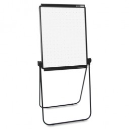 "Quartet Total Erase Easel, Portable, Adjustable, 40"" to 70""H, Black"