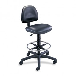 "Safco Precision Drafting Chair, 25"" x 25"" x 42"" to 54"", Black Vinyl"