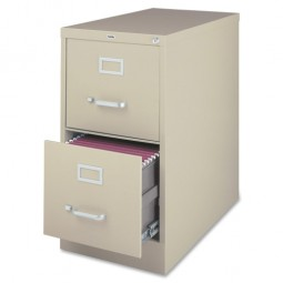 """Lorell Vertical File, 2-Drawer, 15"""" x 26½"""" x 28⅜"""", Putty"""