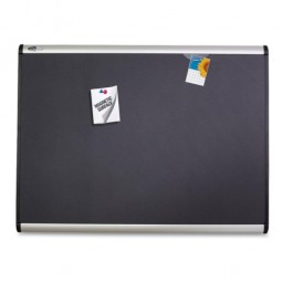 Quartet Magnetic Fabric Bulletin Board,with Magnets, 4' x 3', Aluminum frame