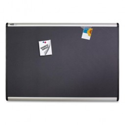 Quartet Magnetic Fabric Bulletin Board,with Magnets, 6' x 4', Aluminum frame