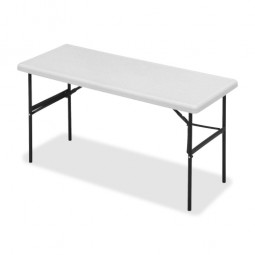 "Iceberg Folding Table, 300 lb Capacity, 60"" x 24"" x 29"", Platinum"