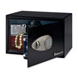 "Sentry Electronic Safe, Override Key, 13¾"" x 10⅗"" x 8⁷⁄₁₀"", Black"