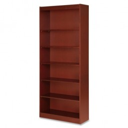 Lorell Panel Bookcase, Cherry - Three Sizes