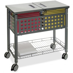 Vertiflex File Cart, with Locking Top, Gray