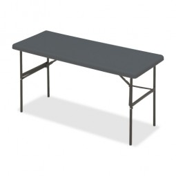 "Iceberg Folding Table, 60"" x 24"" x 29"", Charcoal"