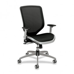 HON Mesh High-Back Chair, Mesh Seat, Black