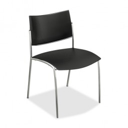 Mayline Stackable Chair - Black - Purchase in quantities of 4