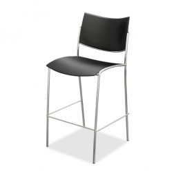 Mayline Stackable Stool - Black - purchase in quantities of 2