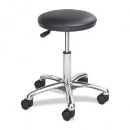 "Safco Economy Lab Stool, 18"" x 18"" x 16"" to 21"", Black"