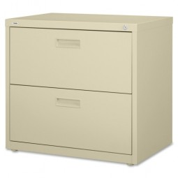 """Lorell Lateral File, 2 Drawer, 30"""" x 18⅝"""" x 28⅛"""", Putty"""