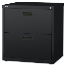 Lorell Lateral File, 2-Drawer, Black