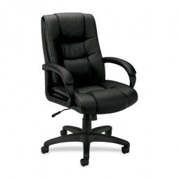 Basyx Executive High-back Chair, Black Vinyl
