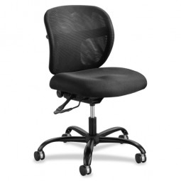 "Safco Mesh Task Chair, 24/7, Back Tilt, 26"" x 26"" x 38"", Black"