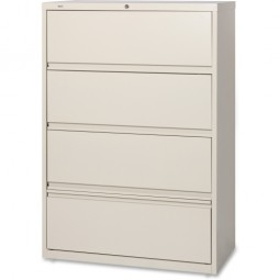 "Lorell Lateral File, RCD, 4 Drawer, 36"" x 18⅝"" x 52½"", Putty"