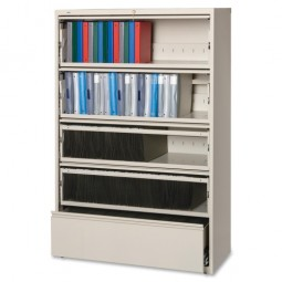 "Lorell Lateral File, RCD, 5 Drawer, 42"" x 18⅝"" x 68¾"" - Various Colors"