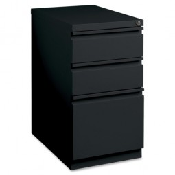 Lorell Mobile Pedestal Files, Box/Box/File Pedestal, Black - Multiple options