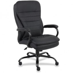 Lorell Executive Chair, Double Cushion, Black