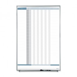 "Quartet In/Out Board, Magnetic, 36 Names, Vertical, 34"" x 23"", White"