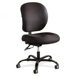 "Safco 24/7 Task Chair, 26"" x 26"" x 35"" to 38"", Black"