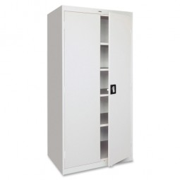 "Lorell Steel Storage Cabinets, 36"" x 18"" x 72"", Light Gray"